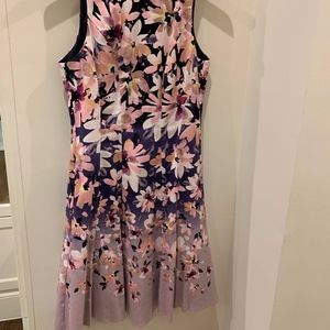 Maggy London Fit Flare Floral Dress 6